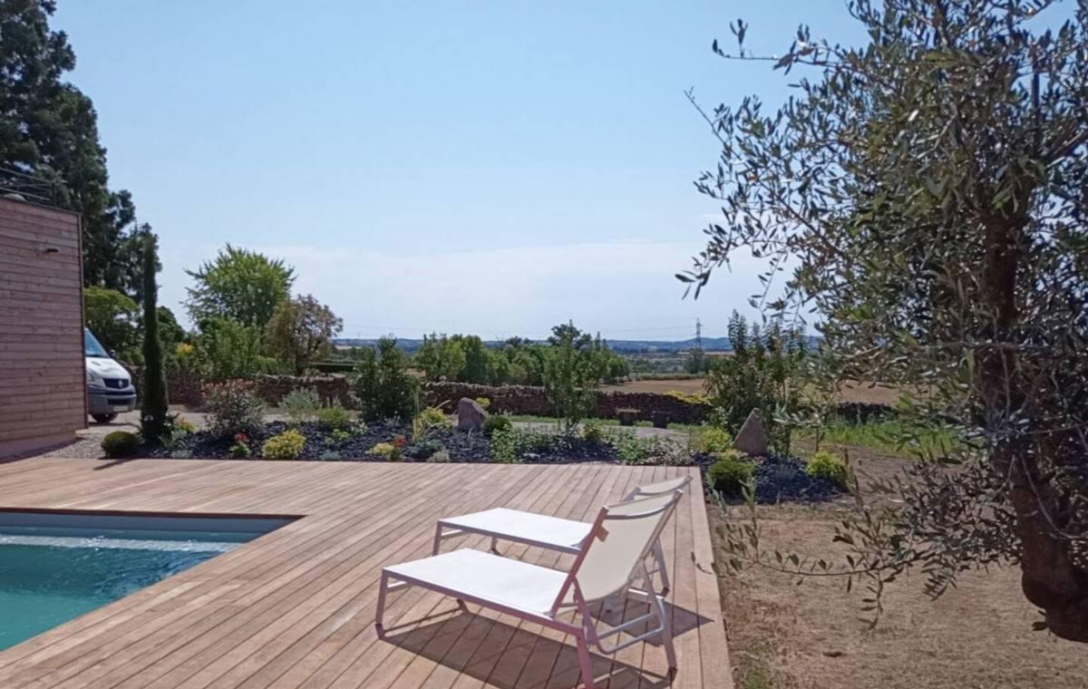 Terrasse piscine bois Aveyron