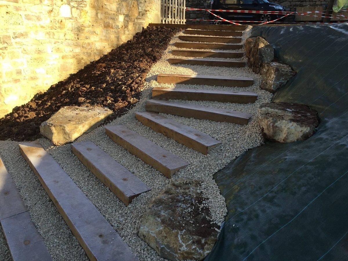 escalier extérieur jardin 12